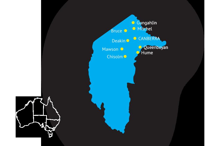 Australia state map